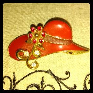 Avon Red Hat Society Vintage Pin